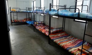 View of a dormitory room for migrant workers who have recovered from coronavirus amid the outbreak in Singapore on 15 May 2020.