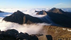 Cloud inversion on the Arran granite, northern Arran, Scotland, by Alex Copley.