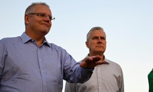 Australian PM Scott Morrison (left) and deputy PM Michael McCormack. 'As we watch the US and Europe fall under the spell of democratically elected autocrats we need to confront the fact that there is more than a passing chance we are now on the same journey ourselves.'