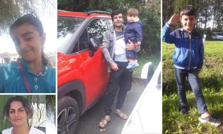 Rasul Iran Nezhad (with Artin), his wife, Shiva Mohammad Panahi, and their two children, Anita, nine and Armin, six,