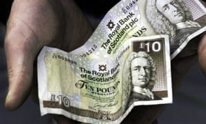 Current Royal Bank of Scotland £10 notes