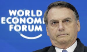 Jair Bolsonaro at the World Economic Forum in Davos,