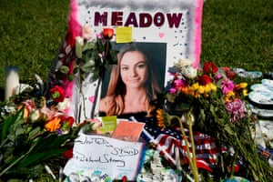 A memorial for Meadow Pollack, one of the victims at Marjory Stoneman Douglas high school.