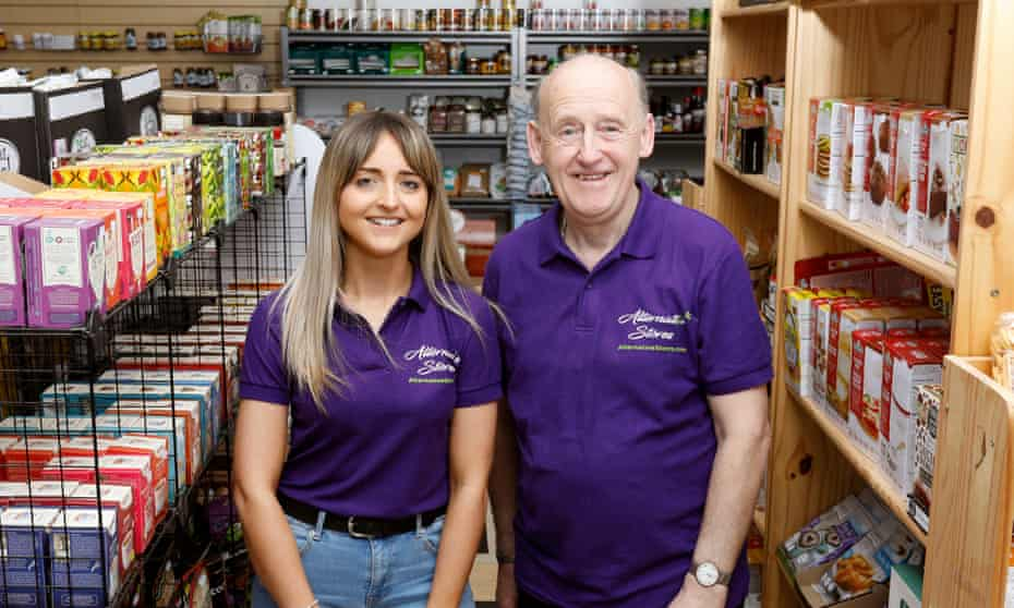 Dan Strettle and daughter, Zahra, in his shop.