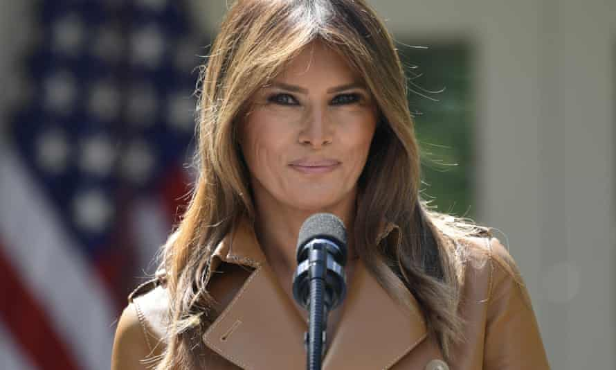 Melania Trump at the White House in Washington DC on 7 May 2018.