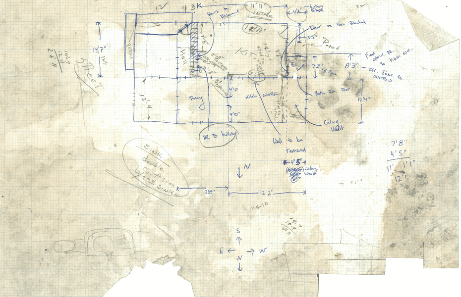 Blue print for Drew Philp's house.