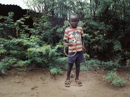 A boy in Kakuma refugee camp, in Kenya.