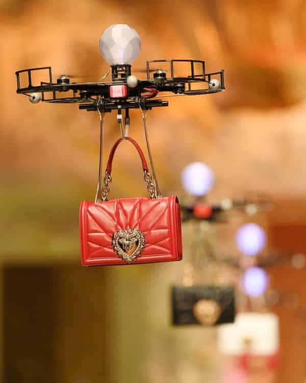 Dolce & Gabbana flew bags down the catwalk using drones at Milan fashion week