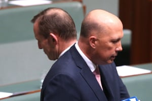 Peter Dutton and Tony Abbott in parliament.