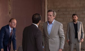 Hugh Laurie's Richard Roper in the BBC series, the Night Manager,