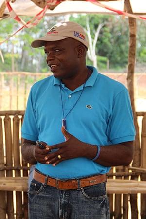 George Woryonwon of Global Communities Liberia