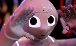 A Pepper robot by SoftBank Robotics.