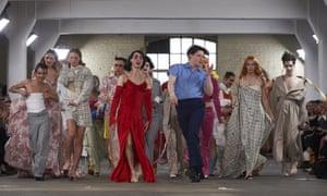 Models present creations at the MAN catwalk show