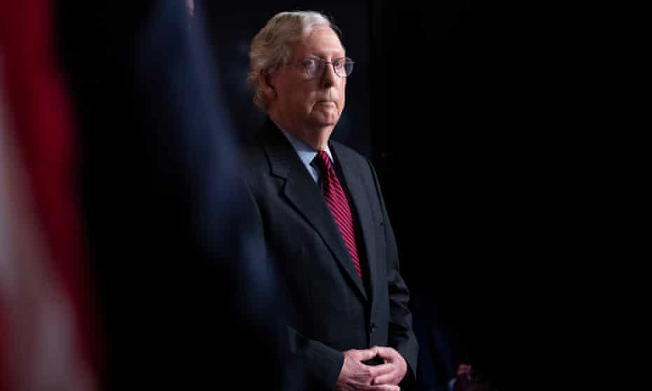 Mitch McConnell on Capitol Hill in Washington DC on 22 September.