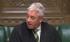 John Bercow , the House of Commons Speaker