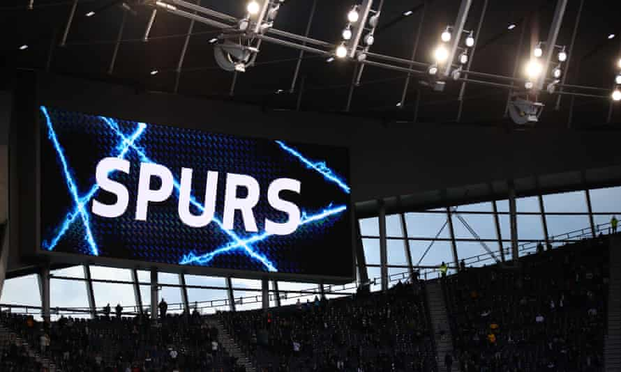 Tottenham's stadium during Wednesday's match against Aston Villa.