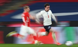 Ben Chilwell of England runs with the ball