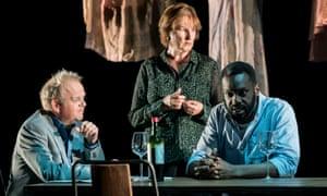 Toby Jones, Deborah Findlay and Sule Rimi in Bluebeard's Friends.
