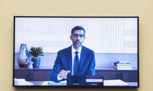 Alphabet chief Sundar Pichai on the call.