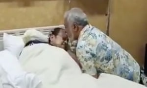Footage shows former president of Timor-Leste, Xanana Gusmao, embracing former Indonesian president BJ Habibie