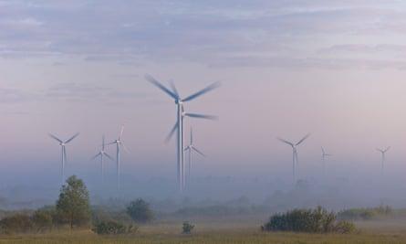 A windfarm near Gdansk, Poland.