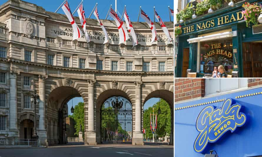 Admiralty Arch, Gala Bingo halls and a string of pubs are identified as being held in secretive offshore trusts.
