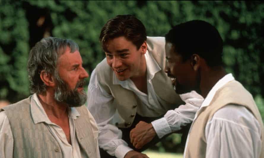 Richard Briers, Robert Sean Leonard and Denzel Washington in Much Ado About Nothing (1993).