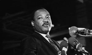 Dr Martin Luther King Jr speaking at a rally in Memphis, the city where he was killed. Memphis will also be the epicenter of events next week.
