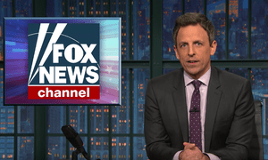 """""""Soon the only advertisers on his show are going to be Ivanka Trump's clothing line and Steve Bannon's skin worsener"""" ... Seth Meyers on Bill O'Reilly."""