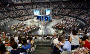 The Congress of Jehovah's Witnesses on 15 July in Rome.