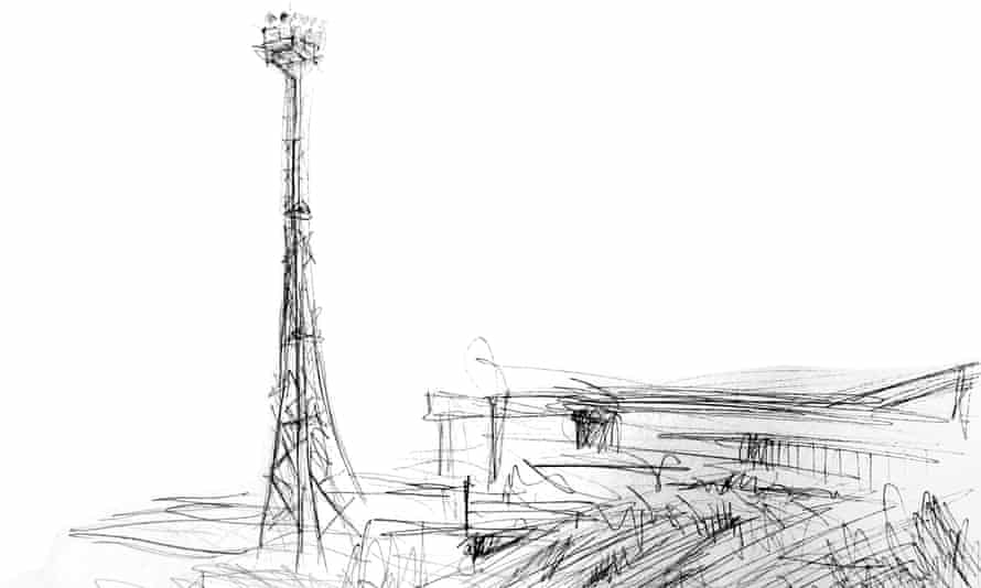 One of Paul Smith's sketches, made along the Black Path