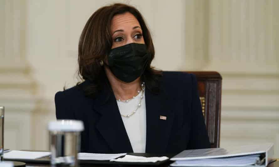 Kamala Harris at the White House on 24 March.
