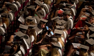 Students wearing mortar boards