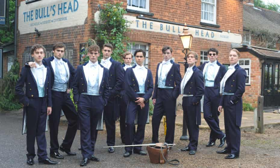 Scene from The Riot Club film