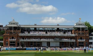 The Lord's pavilion: during Test matches only players, officials and MCC members are permitted entry.