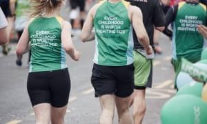NSPCC runners,  London Marathon 2015.