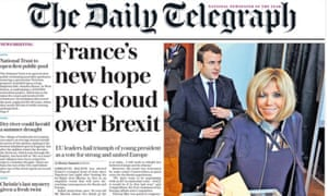 Telegraph front page, 8 May 2017