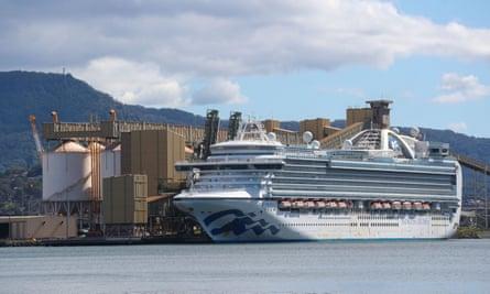 Ruby Princess docked at Port Kembla
