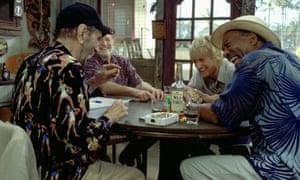 Harry Dean Stanton, Willie Nelson, Owen Wilson and Morgan Freeman in The Big Bounce, 2004