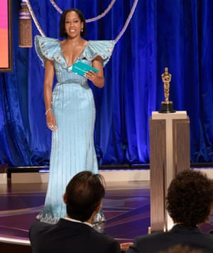 Regina King opened the ceremony as the first of several celebrity presenters