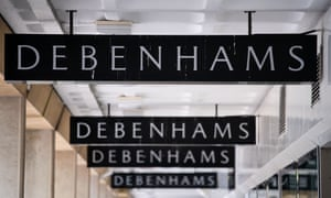 A Debenhams store sign in Cardiff