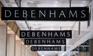 Debenhams signs in Cardiff