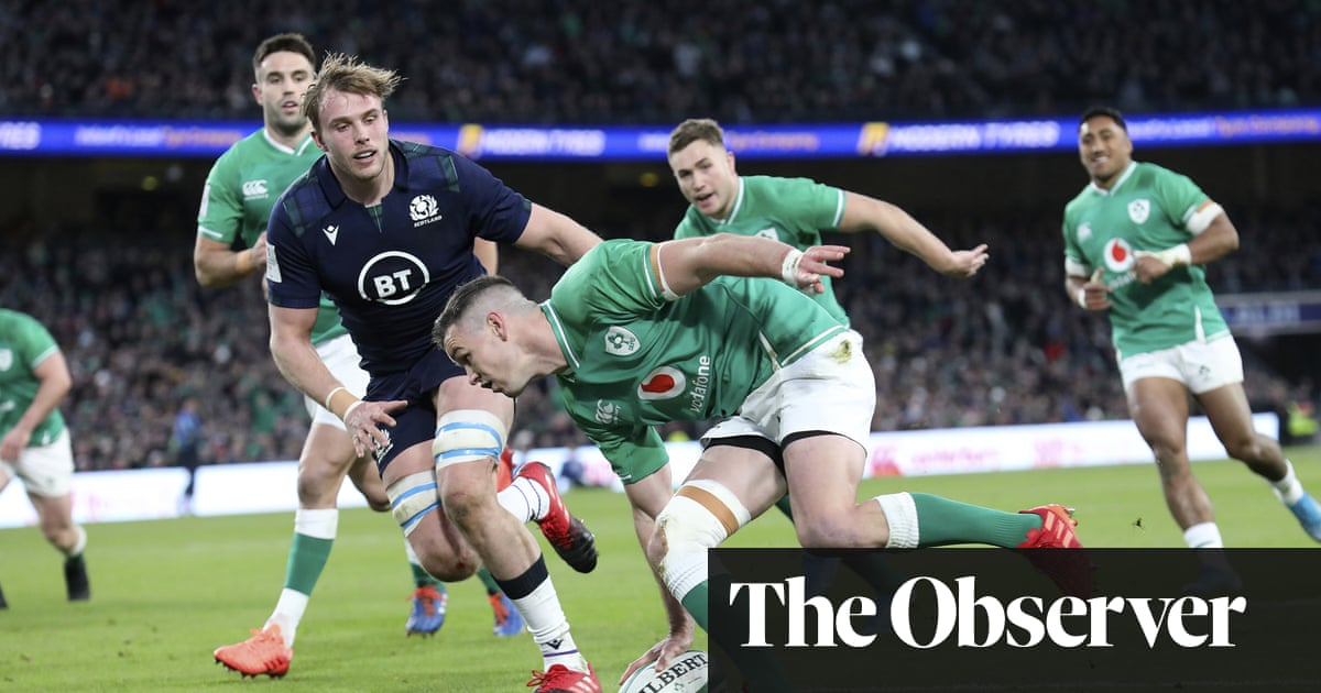 Ireland's Johnny Sexton secures hard-fought victory over Scotland