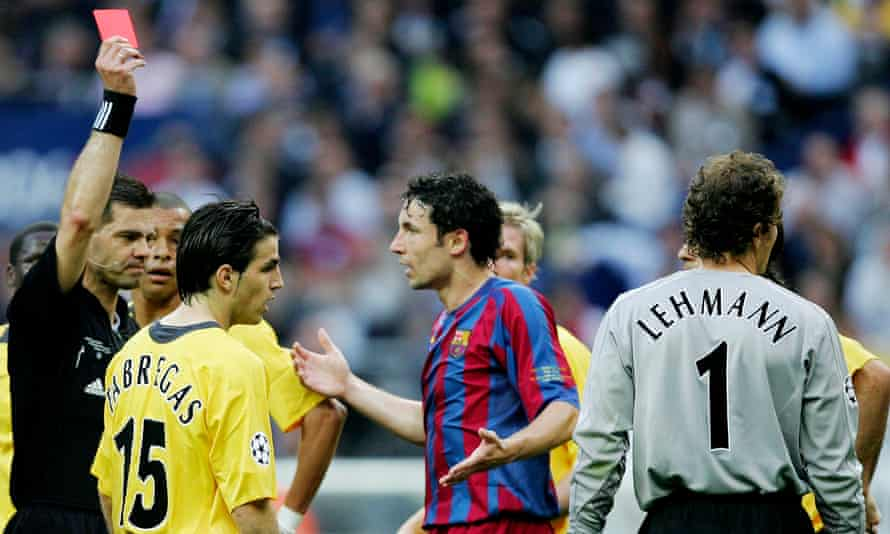 Arsenal v Barcelona in the Uefa Champions League final in 2006