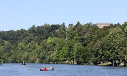 Cliveden National Trust property viewed from the Thames.