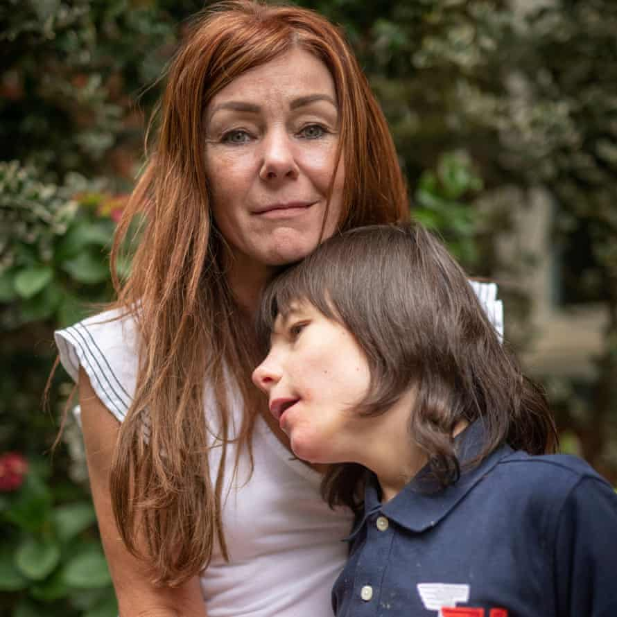 Charlotte Caldwell with her son Billy