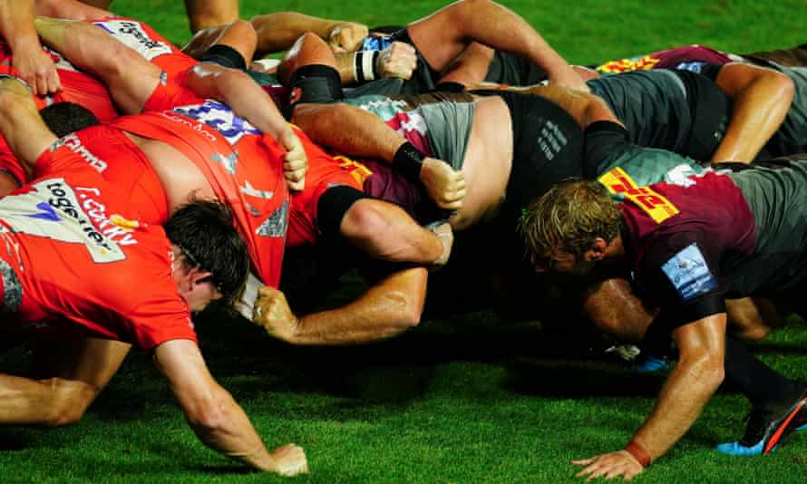 Sale's defeat at Harlequins was blighted by slow scrums. 'If you look at a lot of games the scrum timings of the setup are enormous. It's minutes. It's crazy.'
