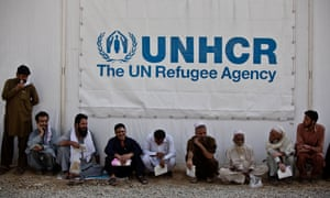 Afghans who have arrived from Pakistan wait to be registered at a UNHCR reception centre on the outskirts of Kabul in September 2016