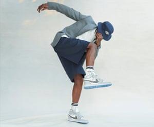 Travis Scott in Air Dior sneakers.