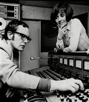 Jack Good and the singer Sylvia McNeill, in 1969.